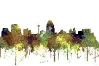 San Antonio Texas Skyline - Safari Buff Fine-Art Print