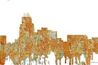 Durham North Carolina Skyline - Rust Fine-Art Print