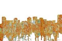 Norfolk Virginia Skyline - Rust Fine-Art Print