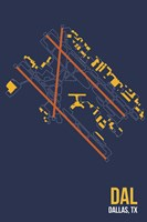 DAL Airport Layout Fine-Art Print