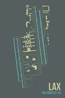 LAX Airport Layout Fine-Art Print