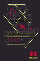 ORD Airport Layout Fine-Art Print