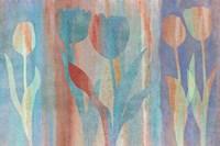 Dancing Tulips Blue Pink Fine-Art Print