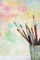 Paint Brushes and Aquarel Fine-Art Print