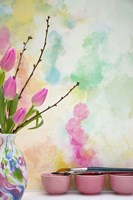 Tulips and Paint Brushes Fine-Art Print