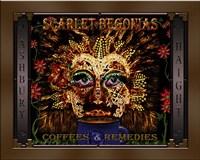 Scarlet Begonias Coffee & Remedies Fine-Art Print