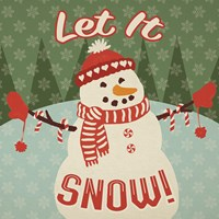 Retro Christmas VII Let It Snow Fine-Art Print