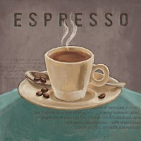 Coffee and Co III Teal and Gray Fine-Art Print