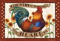 Country Heart I Dots Fine-Art Print