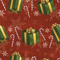 Santas List Pattern X Fine-Art Print