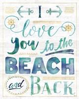 Coastal Words I on Wood Fine-Art Print