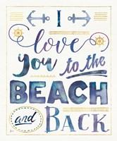 Coastal Words I Indigo Fine-Art Print