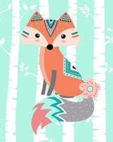 Tribal Fox Girl II Fine-Art Print