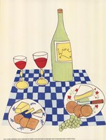 Wine and Cheese Picnic Fine-Art Print