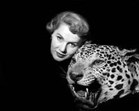 1950s Dramatic Face Shot Woman Posing Fine-Art Print