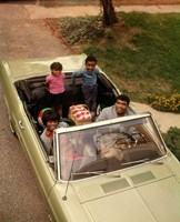 1970s African American Family Seated In Convertible Car Fine-Art Print