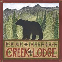 Bear Mountain Creek Lodge Fine-Art Print