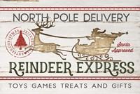 Reindeer Express Fine-Art Print