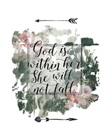 God is Within Her Floral Fine-Art Print