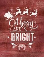 Merry & Bright Santa Fine-Art Print