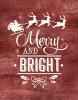 Merry & Bright Santa Fine-Art Print