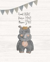 Kind Heart Hippo Fine-Art Print