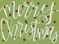 Merry Christmas - Green Fine-Art Print