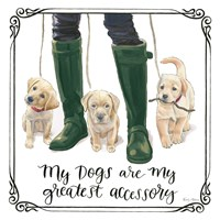 Furry Fashion Friends I My Dogs Fine-Art Print