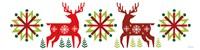 Geometric Holiday Reindeer III Fine-Art Print