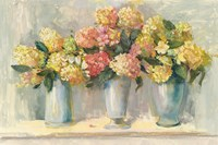 Ivory and Blush Hydrangea Bouquets Fine-Art Print