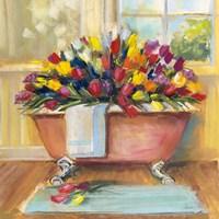 Bathtub Bouquet II Fine-Art Print