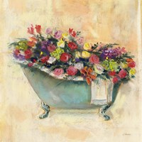 Bathtub Bouquet I Fine-Art Print