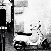 Paris Vespa BW Fine-Art Print