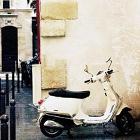Paris Vespa Color Fine-Art Print