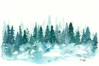 Blue Winter Forest Fine-Art Print