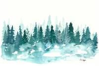 Blue Winter Forest Fine-Art Print