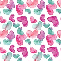 Pink Hearts Pattern Fine-Art Print