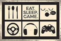 Eat Sleep Game Fine-Art Print