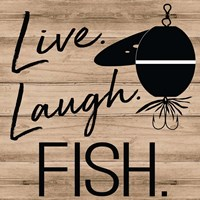 Live Laugh Fish Fine-Art Print