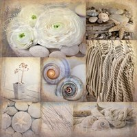 Sepia Seaside Collage I Fine-Art Print