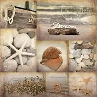 Sepia Seaside Collage II Fine-Art Print
