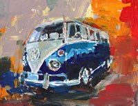 Dark Blue Campervan Fine-Art Print