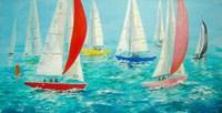 Mermaids Racing Fine-Art Print