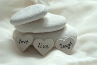 Pebbles Hearts - Live, Laugh, Love Fine-Art Print