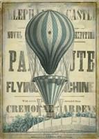 Blue Hot Air Balloon Fine-Art Print