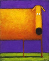 Orange Dog I Fine-Art Print
