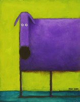 Purple Dog I Fine-Art Print