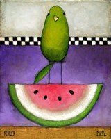 Watermelon Bird Fine-Art Print