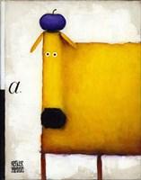 Yellow Dog With Apple Fine-Art Print