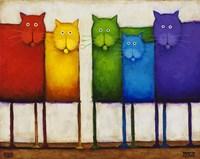 Rainbow Cats Fine-Art Print